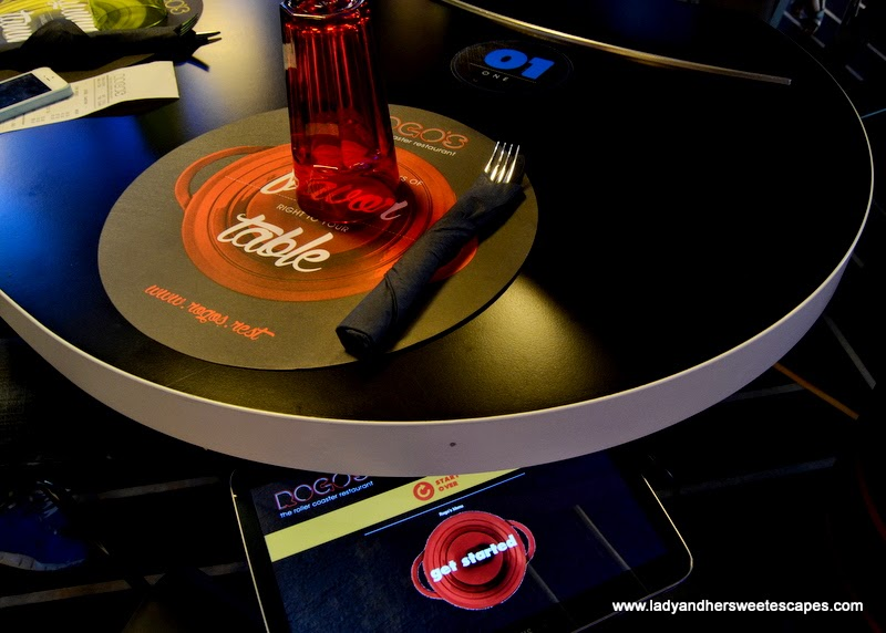 Rogo's menu tablet