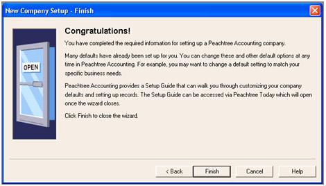 SET UP a NEW COMPANY in peachtree accounting software peach tree