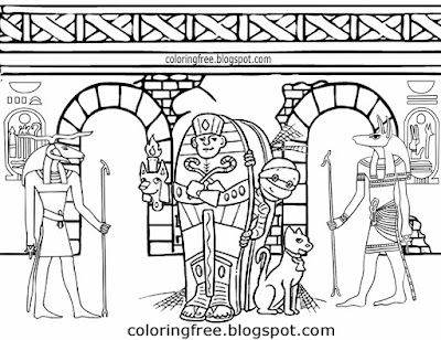 Tomb scary walking dead body earliest ancient Egyptian mummy monster coloring Egypt pages teenagers