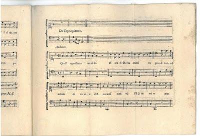 Détail de la partition de Per la ricuperata salute di Ofelia (Da Ponte, Salieri, Mozart, Cornetti)