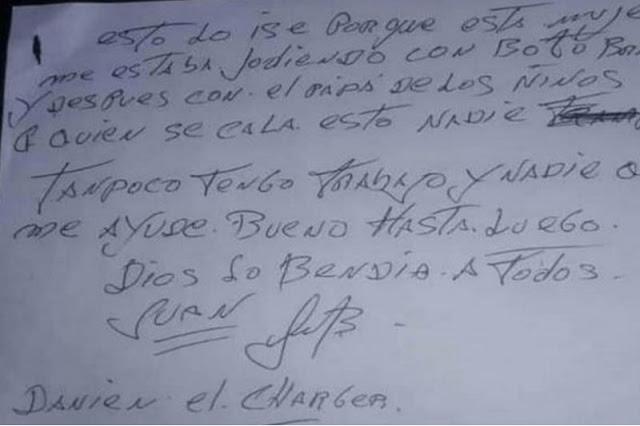Asesinó a su mujer, dejó esta nota y luego se suicidó en Trujillo
