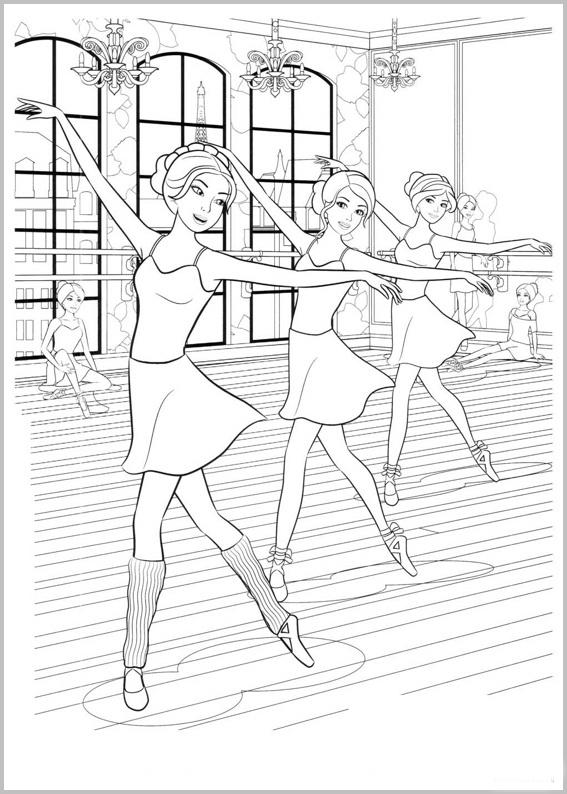 Disegni Da Colorare E Stampare Gratis Di Ballerine Disegni Di