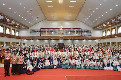 Aprilani Yustin Ficardo dan Ibu Negara Ajak Pelajar Lampung Untuk Jauhi Narkoba