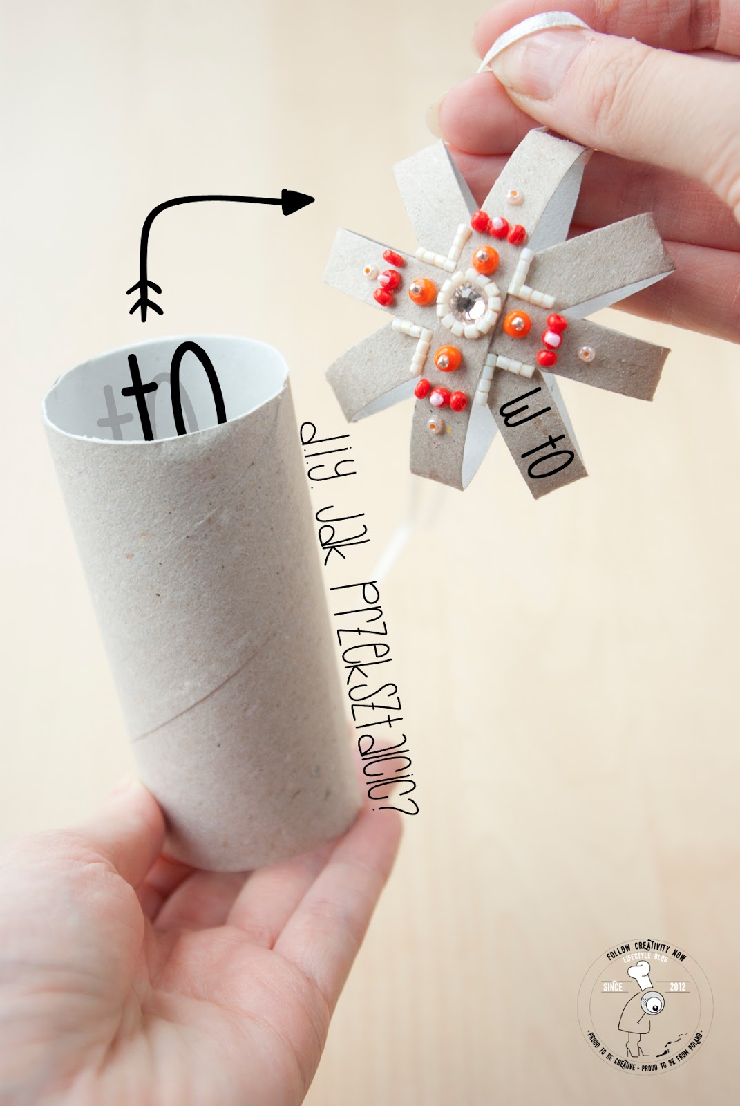 Diy świąteczne Dekoracje Z Rolki Papieru Toaletowego Czy