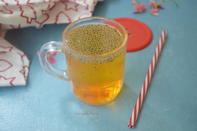 Sabja Sarbath Recipe | Basil Seeds Nannari Syrup Juice