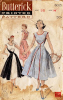 vintage Walkaway dress pattern retro butterick B4790 draw pattern