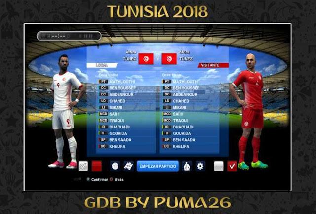 Tunisia 2018 Kit PES 2013