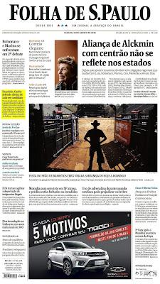 Primeira página da Folha