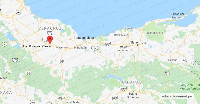 Temblor en México de Magnitud 4.0 (Hoy Jueves 05 Marzo 2020) Sismo - Epicentro - Juan Rodríguez Clara - Veracruz de Ignacio de la Llave - VER. - SSN - www.ssn.unam.mx