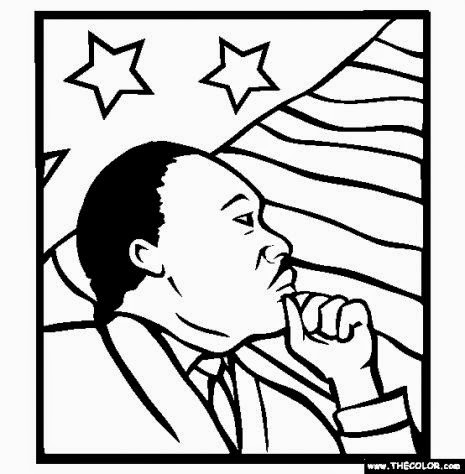 Martin Luther King Online Coloring Pages  Page 1