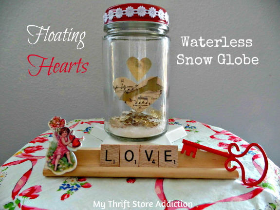 Vintage Charm Party 16 mythriftstoreaddiction.blogspot.com Floating Hearts Waterless Snow Globe