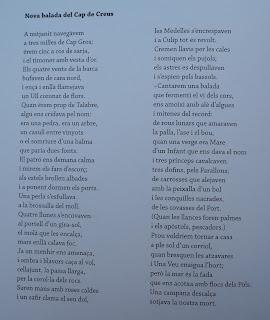 Poesia Nova balada del Cap de Creus de J.V. Foix per Teresa Grau Ros