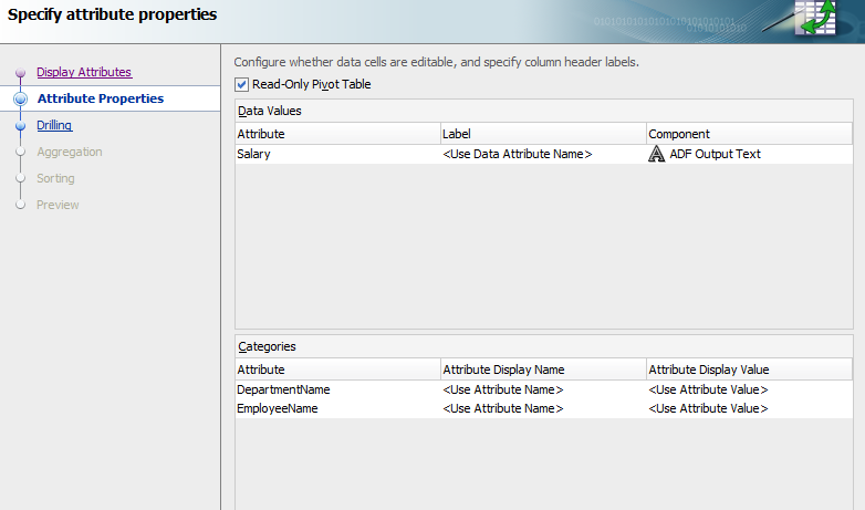 Creating and Exporting hierarchical data to excel using dvt
