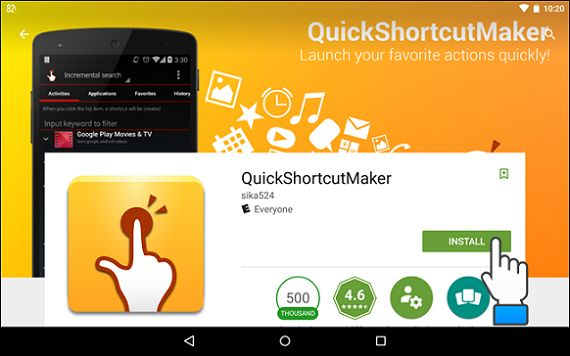 GRATUIT SHORTCUT.APK TÉLÉCHARGER COM.SIKA524.ANDROID.QUICK