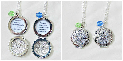 image mother locket necklaces necklace set beaded quote two cheeky monkeys motherhood