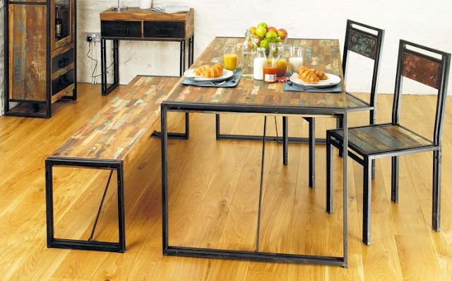 industrial chic furniture sets for dining room