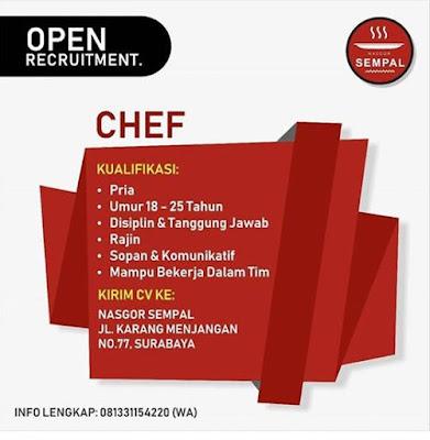 lowongan kerja chef m=nasgor sempal