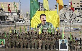 banner of PKK leader