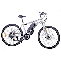 """Cyclamatic Power Plus CX1 Electric Mountain Bike, with 250w brushless motor, 19"""" frame, 36v 8.8ah battery, 21-speed Shimano gears, 26"""" wheels, disc brakes, front suspension, 3 levels of pedal assist"""