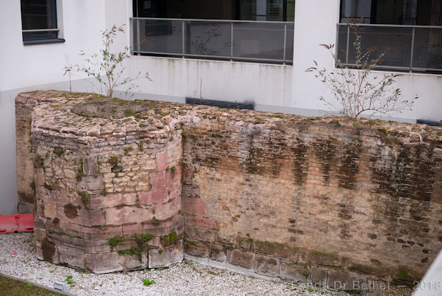 Fortifications de Strasbourg : vestiges de la 4e extension, Bd Wilson (cliché Dr Balliet)