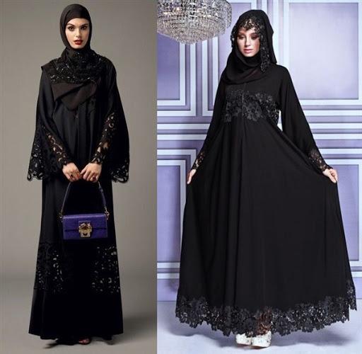 Model Baju Muslim Brokat Modern Terbaru 2017/2018