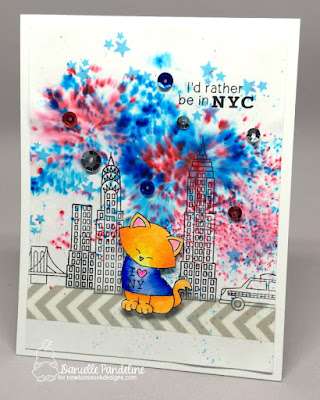 Newton Dreams of New York | Newtons Nook Designs | Card created by Danielle Pandeline