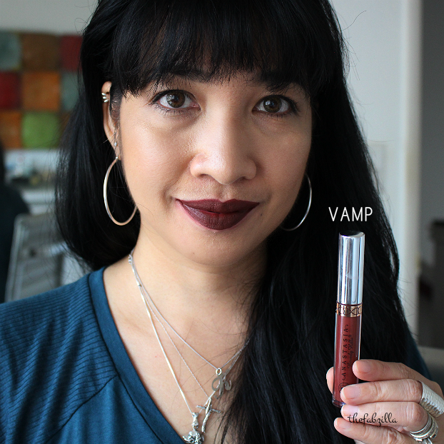 anastasia beverly hills liquid lipstick, review, swatch, vamp, soft lilac, pure hollywood, bloodline, vintage, how to wear liquid lipstick