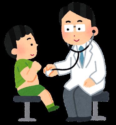 内科検診のイラスト(小児科)