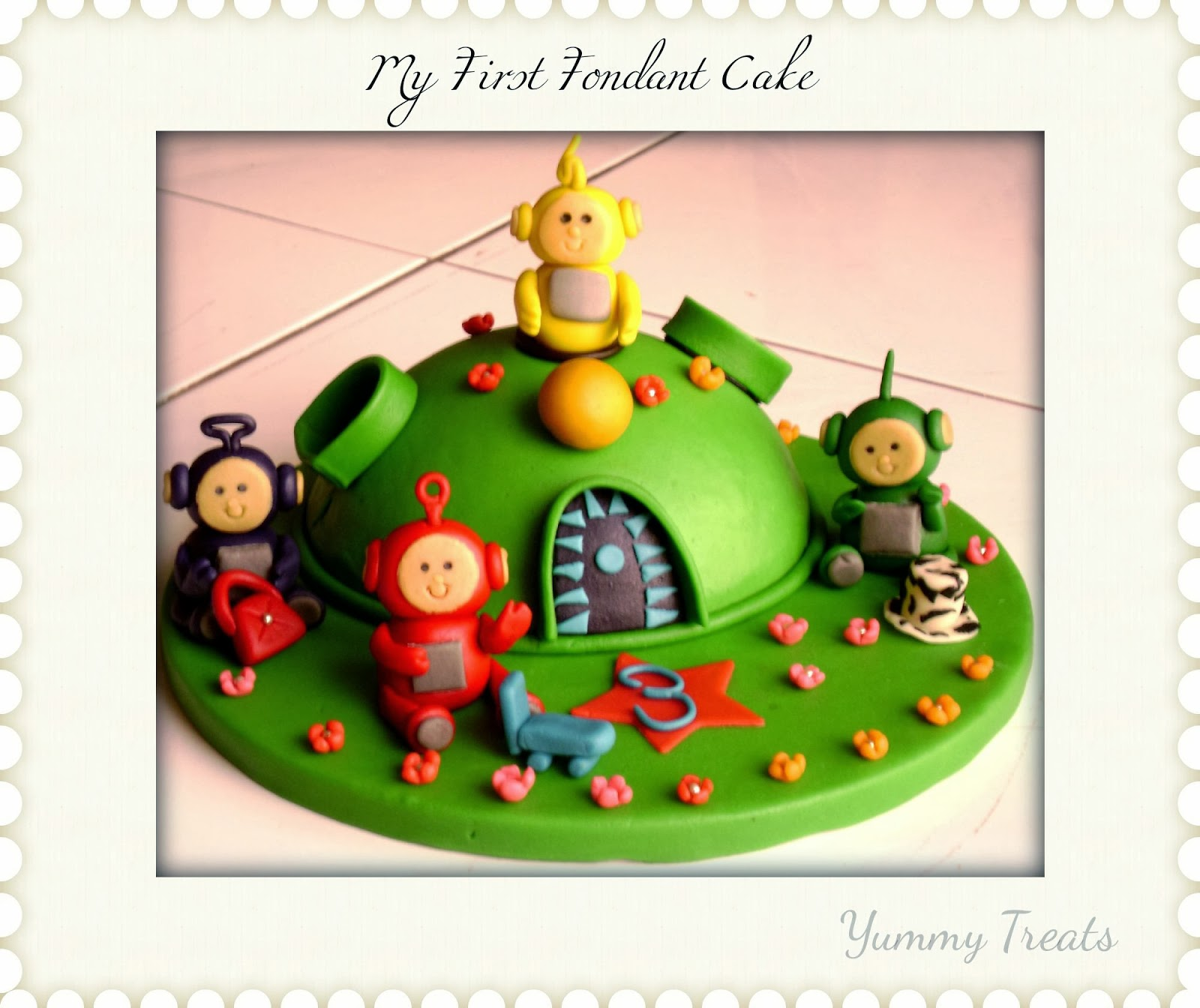 YUMMY TREATS: Themed Fondant Cake (Teletubbies