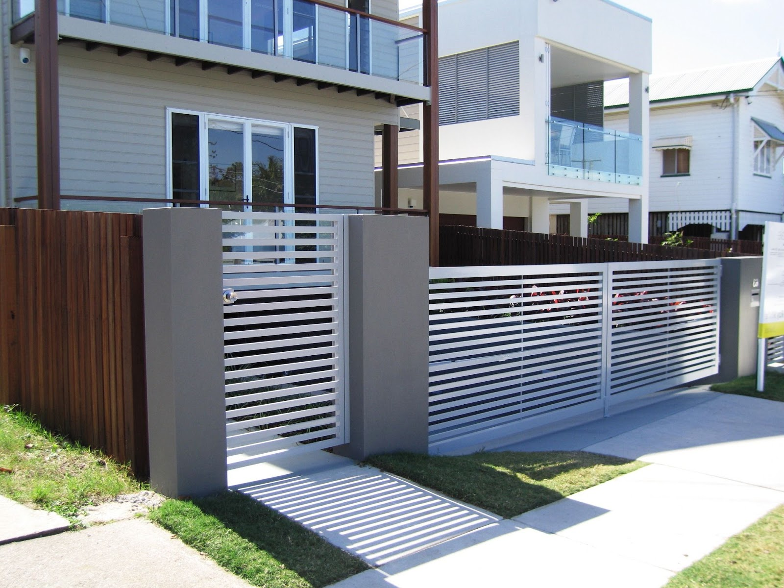 35 kombinasi warna cat pagar rumah minimalis hijau ungu
