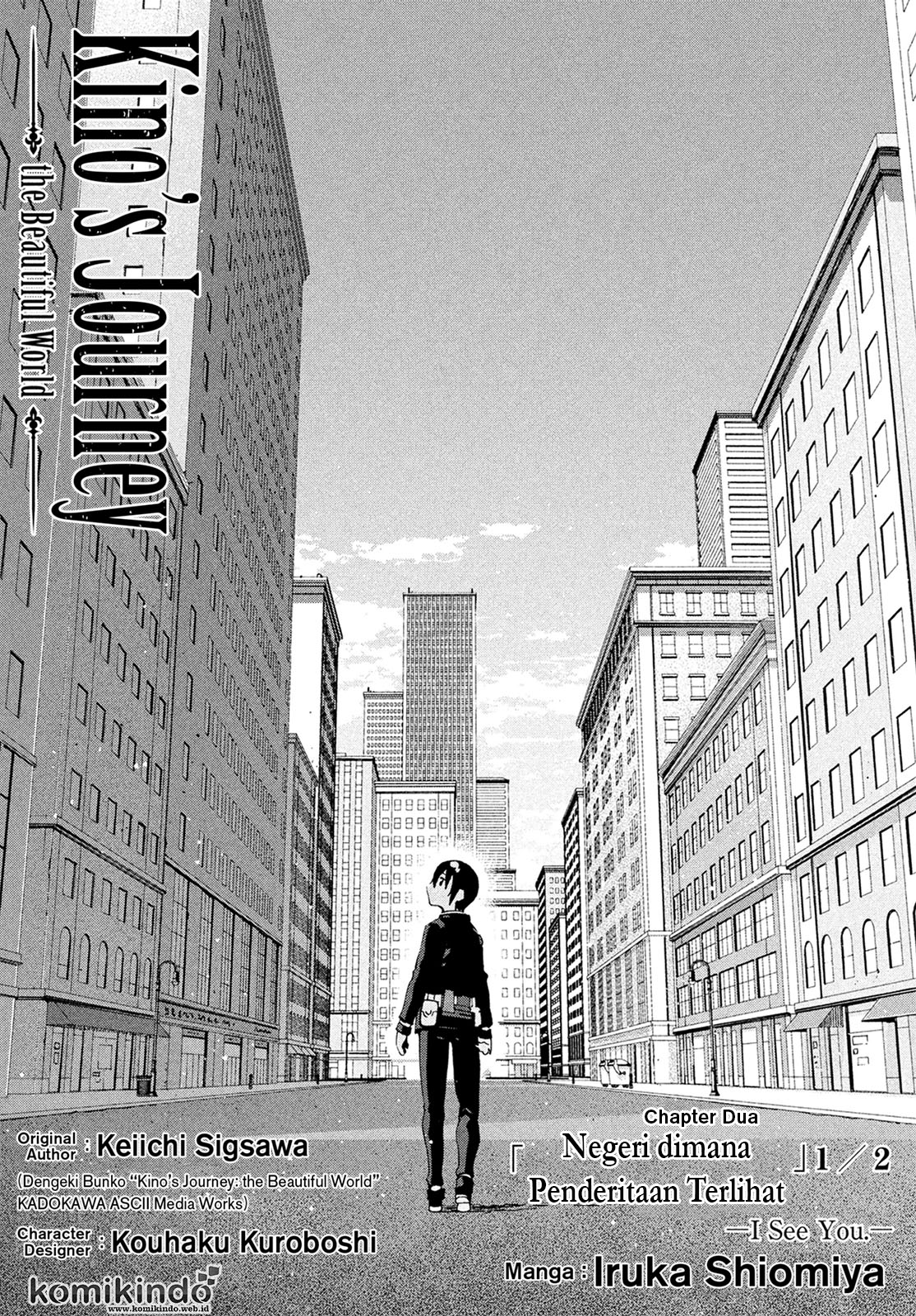 Baca Manga Kino no Tabi -The Beautiful World- (Shiomiya) Chapter 2 Bahasa Indonesia