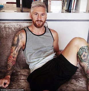 Lionel Messi's new blonde hairstyle