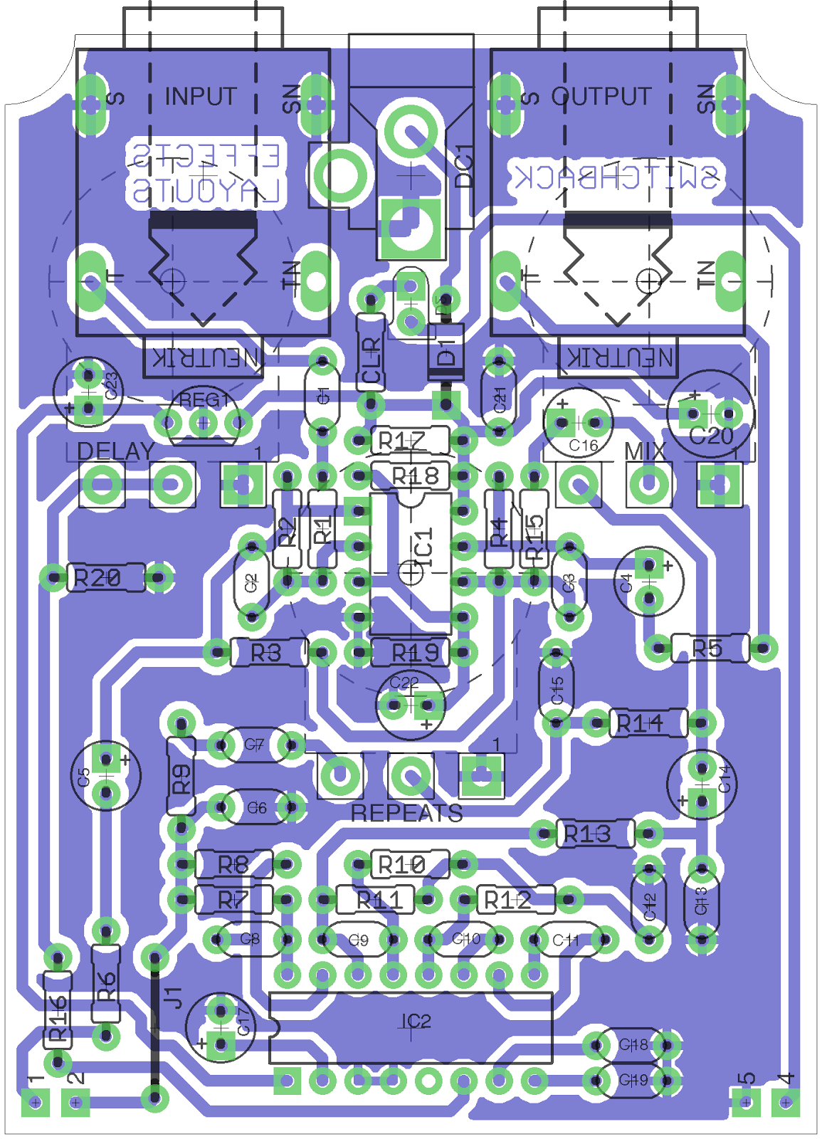 Perf and PCB Effects Layouts: Switchback Delay