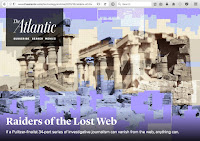 "Screenshot of The Atlantic ""Raiders of the Lost Web"" article."