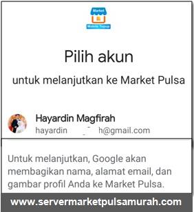 pilih akun market mobile topup