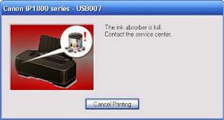 Cara Reset Canon IP1880