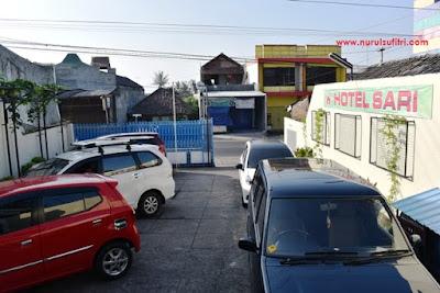 lahan parkir mobil di hotel sari ambarawa nurul sufitri