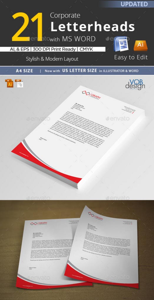 40 free premium letterhead templates in multiple formats 21 in 1 corporate letterhead ms word templates with ai eps spiritdancerdesigns Choice Image