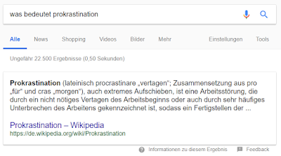 Feature Snippet bzw. Direct Answer bei Google