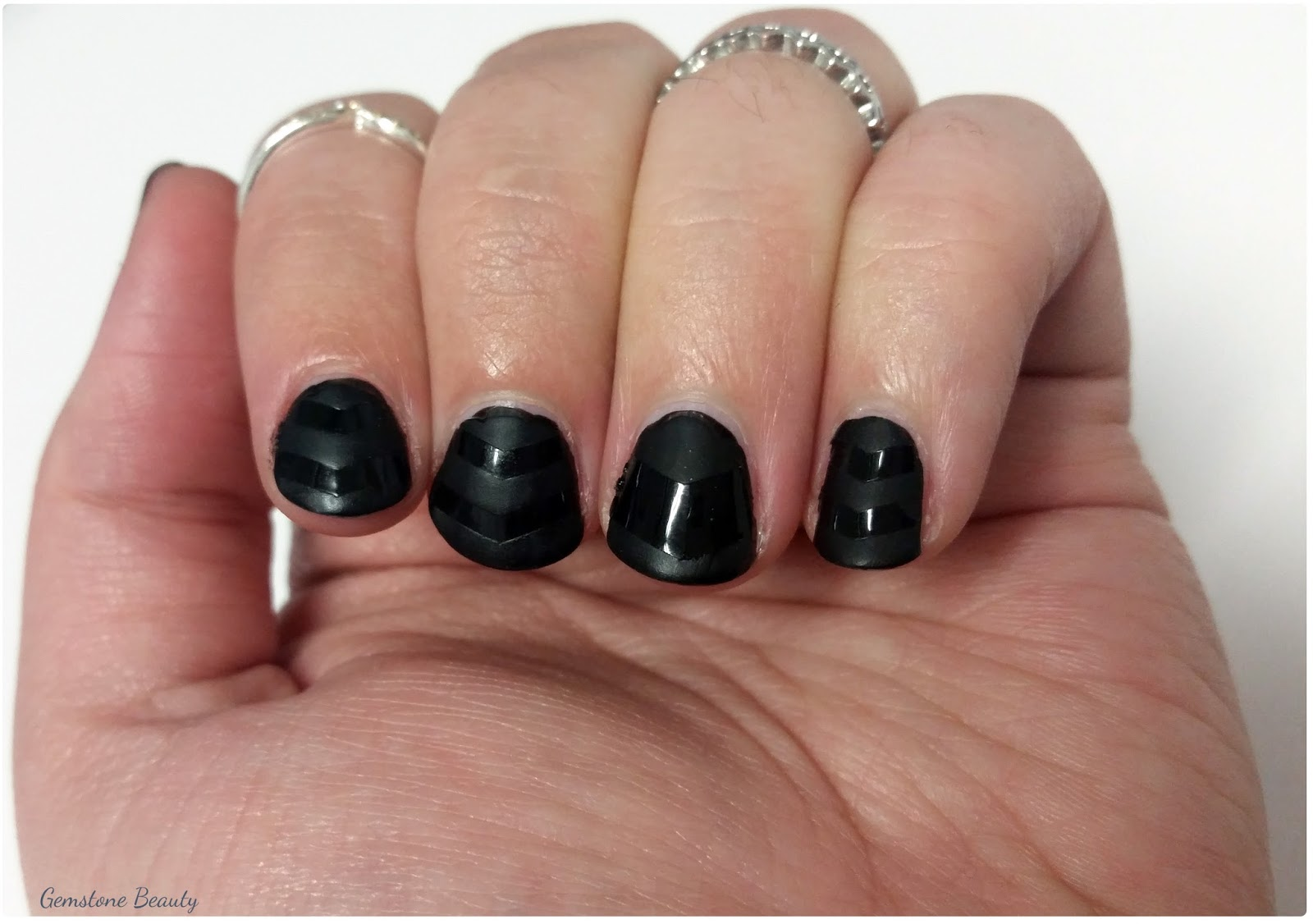 Gemstone Beauty: October Nail Art Challenge Day 1: Black