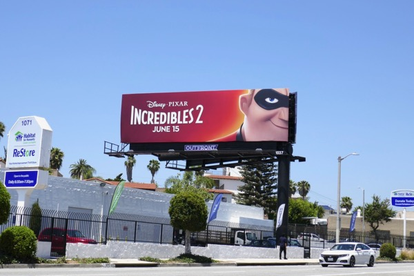Incredibles 2 movie billboard