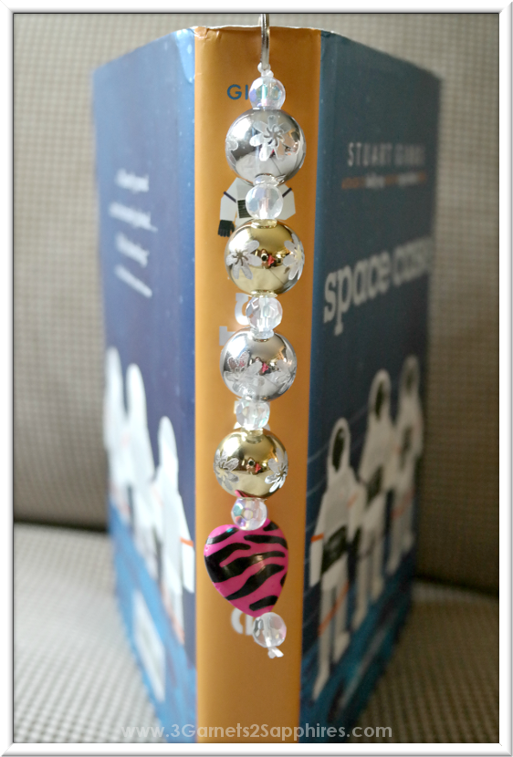 DIY Beaded Bookmark  |  3 Garnets & 2 Sapphires