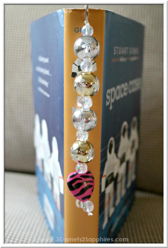 DIY Beaded Bookmark  |  3 Garnets & 2 Sapphires