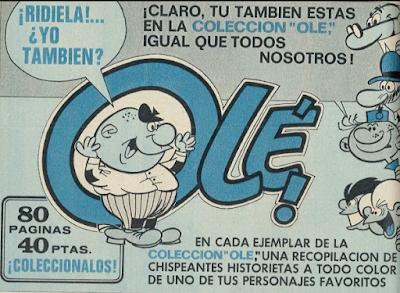 Publicidad de la colección Olé, con Agamenón de protagonista