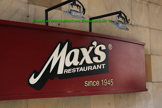 Sign, Max's restaurant, Manila, Philippines