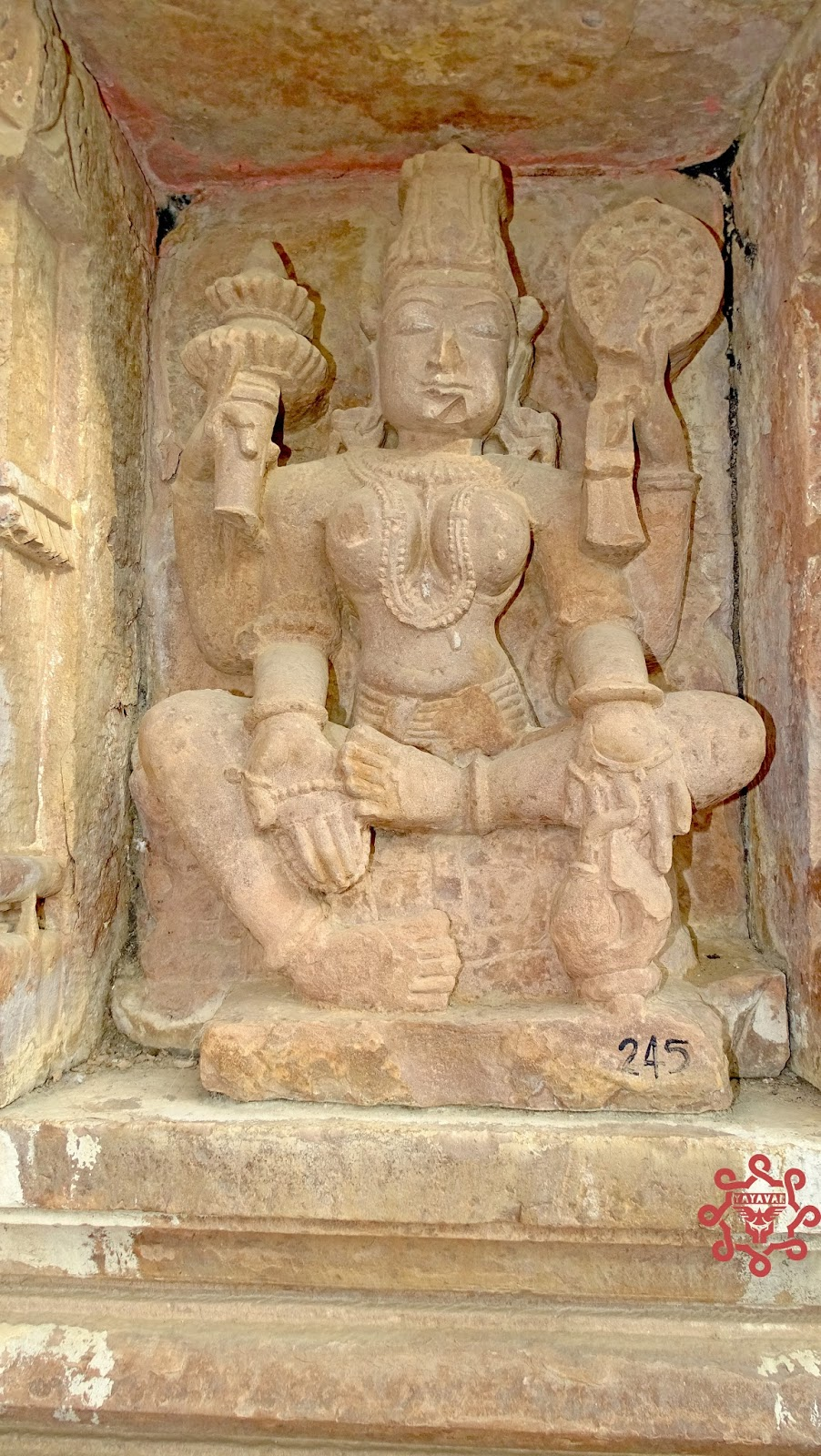 Sculptures at Menal temple