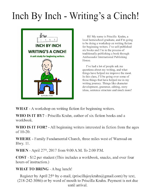 Workshop for Beginning Writers!