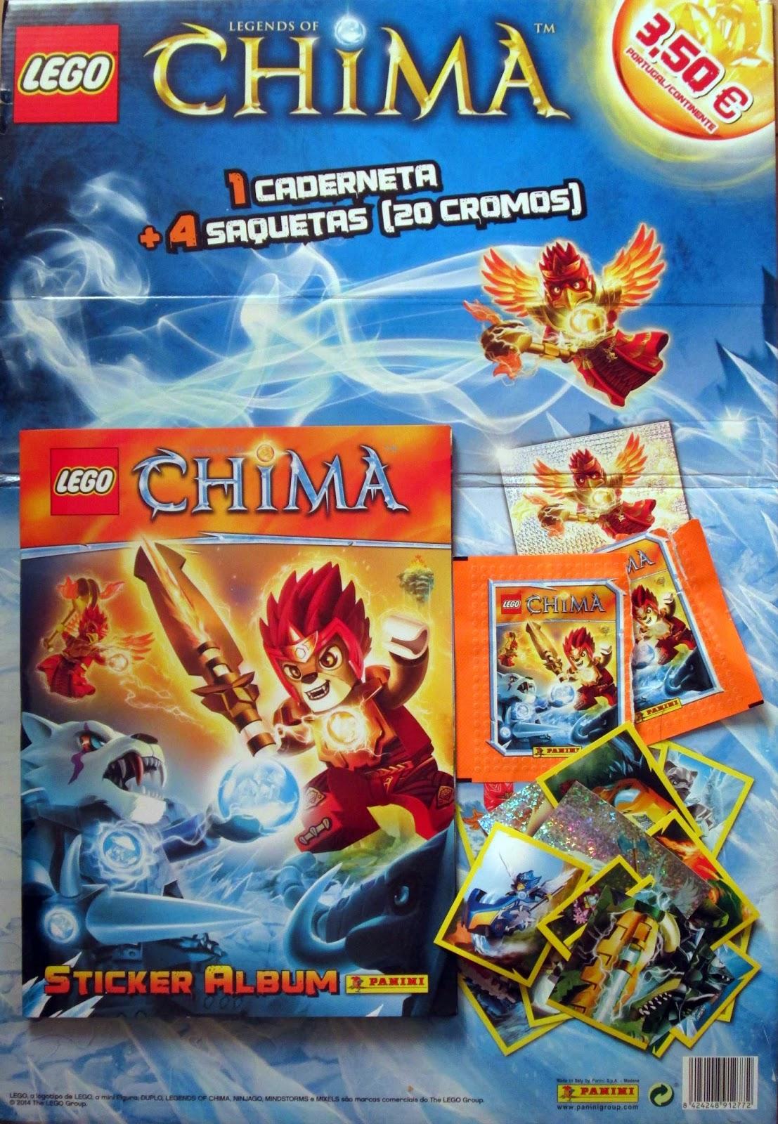 LEGO CHIMA - caderneta de cromos da PANINI