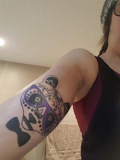 Sugar Scull Panda Tattoo