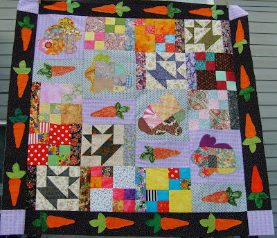bunny lady quilt top